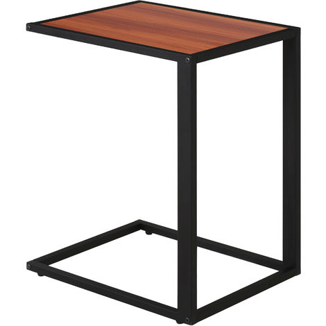 HOMCOM Modern Coffee Side Table C-shape Desk
