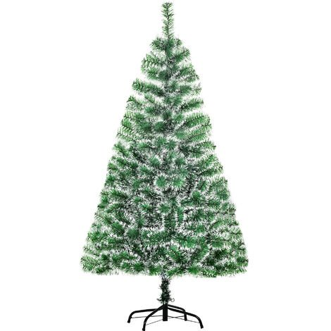 HOMCOM Christmas Tree Artificial Decoration Xmas Gift with Metal Stand - 5ft / 150cm