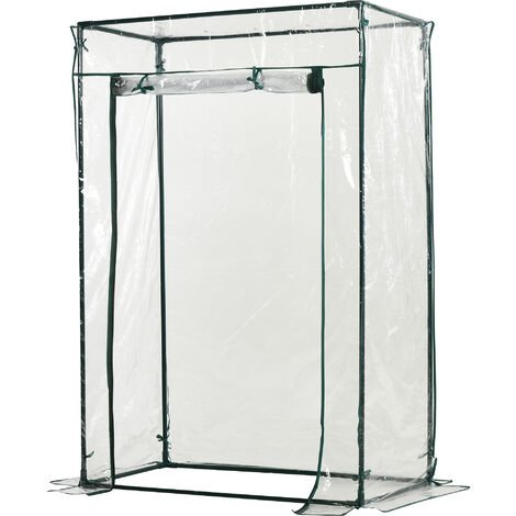 Outsunny Outdoor PVC and Steel Greenhouse Plant Cover with Zipper (100L x 50W x 150H (cm))