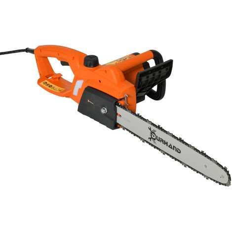 DURHAND 2000W Aluminum Electric Chainsaw Garden Tools Double Brake Cover Case Blade Corded 40 cm - Orange