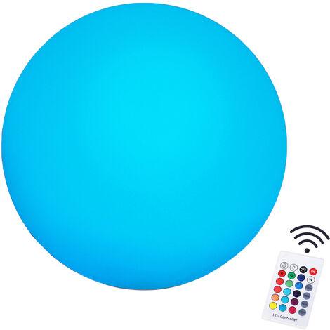 HOMCOM 40cm Glowing LED Ball Light Globe Sphere Floor Lamp 16 RGB Colour Change Rechargeable Battery