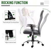 Vinsetto High Back Mesh Office Chair Swivel Seat Ergonomic Adjustable - Grey