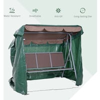 Outsunny Large Outdoor Swing Chair Cover Garden Furniture Protector 215x155x150cm