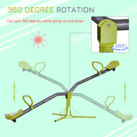 HOMCOM Kids Seesaw Swivel 360 Degree Rotation Playground Garden Outdoor