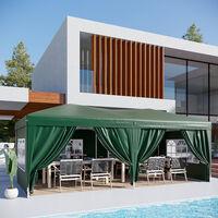 Outsunny 6 x 3m Garden Pop Up Gazebo Marquee w/ Storage Bag - Green