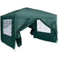 Outsunny 3 x 3m Pop Up Gazebo Marquee + Carry Bag - Green