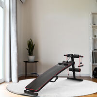 HOMCOM Sit Up Bench Workout Fitness Excercise Adjustable Thigh Support Home Gym