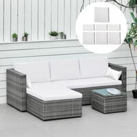Outsunny Rattan Garden Furniture Cushion Cover Sofa Replacement