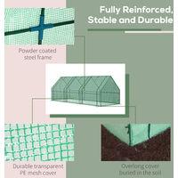 Outsunny 2.7m Polytunnel Steeple Greenhouse Steel Frame 270L x 90W x 90H (cm)