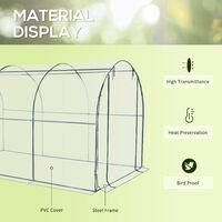 Outsunny Large Walk in Transparent Dome PVC Greenhouse Green Grow House Steel Frame 350x200x200cm