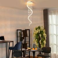 HOMCOM Crystal Chandelier Ceiling Light Pendant Lamp Chrome Finish Glass Droplets