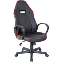 Vinsetto Sleek High Back Office Chair Executive 360 Swivel w/ Wheels Padding Red