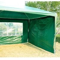 Outsunny 6m x 3m Garden Heavy Duty Gazebo Marquee Party Tent Wedding Canopy Outdoor (Green)
