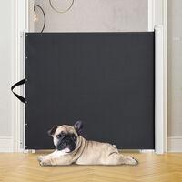 PawHut Retractable Pet Safety Gate Blind Home Door Divider Guard 115Lx82.5Hcm