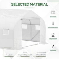 Outsunny Walk-In Portable Greenhouse Metal Frame Garden Plant Flower Herb 6.5FT