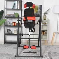 HOMCOM Inversion Table Body Assist w/ Adjustable Height Angle Safe Features