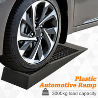 HOMCOMC 2 Pcs 70x20cm Thick Plastic Curb Ramps Anti-Slip Surface Tyre Friction