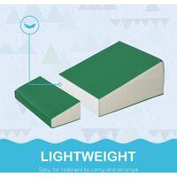 HOMCOM 5 Piece Soft Safe Foam Playset Climb and Crawl Activity Toy for Toddler