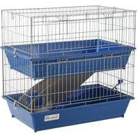 PawHut 2-Tier Small Animal Cage Pet Mink Chinchilla Rabbit Hutch Pet Play House