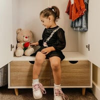 HOMCOM 6FT 2-Door Clothes Wardrobe w/ Rail Shelf 2 Drawers Wood Feet White