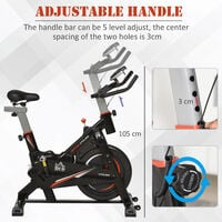 HOMCOM Indoor Cycling Bike Upright Stationary Exercise Cardio Workout Fun