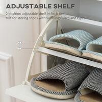 HOMCOM Multi-Compartment Shoe Cabinet Home Stroage Organisation w/ Doors