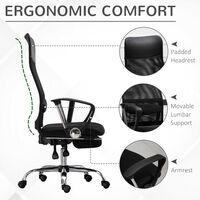 Vinsetto High Back Mesh Office Chair Swivel Adjustable Ergonomic Footrest