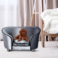 PawHut Pet Sofa Indoor Dog Cat Puppy Kitten Mat Cushion Bed Couch Chair House