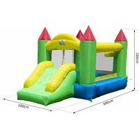 HOMCOM Bounce House Inflatable Kids Jumper Bouncy Castle