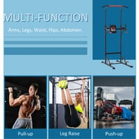 HOMCOM Pull Up Bar Power Tower Station Home Office Gym Workout Equipment