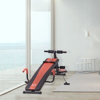 HOMCOM Multifunctional Sit Up Dumbbell Bench w/ Resistance Rope Home Office