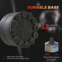 HOMCOM Freestanding Boxing Punch Bag Stand w/ Rotating Arm Speed Ball