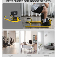 HOMCOM 3-In-1 Padded Squat Machine Home Gym Workout Fitness Equipment Yellow