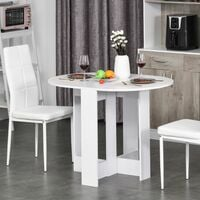 HOMCOM Folding Drop Leaf Dining Table Compact Home Furniture Home Style