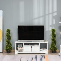 Outsunny Set Of 2 90cm Artificial Spiral Topiary Trees w/ Pot Fake Outdoor Plant