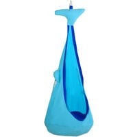 Outsunny Kids Whale-Shaped Kids Pod Swing Seat Hammock Hanging Chair Indoor Outdoor