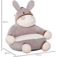 HOMCOM Kids Large Donkey Chair Animal Sofa Seat Cute Bedroom w/ Armrest