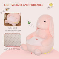 HOMCOM Kids Large Rabbit Chair Animal Sofa Seat Cute Bedroom w/ Armrest