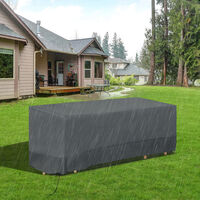 Outsunny Outdoor Garden Furniture Protective Cover Water UV Resistant 190x72cm