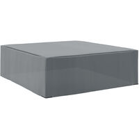 Outsunny 225x210cm Outdoor Garden Furniture Protective Cover Water UV Resistant Grey