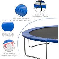 HOMCOM 13ft Trampoline Pad Surround Safety Pad Thick Foam Pading Pads - Blue
