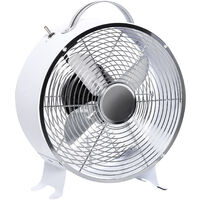 HOMCOM 26CM Electric Table Desk Fan 2-Speed Air Cooling System Portable White