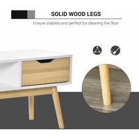 HOMCOM TV Stand Cabinet Unit Media Entertainment Center w/ Open Shelf Drawers