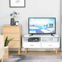 HOMCOM TV Stand w/ Drawers Shelves Media Console Table Entertainment Centre