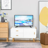 HOMCOM Modern TV Stand w/ Drawers Media Console Table Entertainment Center
