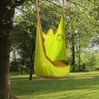 Outsunny Cotton Hanging Pod Swing Seat Garden Hammock Chair Indoor Outdoor