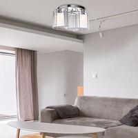 HOMCOM Modern Design Mini Style Flush Mount Ceiling Light with Metal Finish Chandelier - White