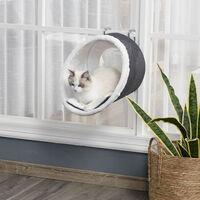 PawHut Hanging Tube Cat Bed Soft Resting Pad Hanging Kitten Pet Perch w/ Hooks