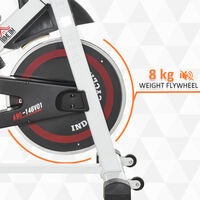 HOMCOM Exercise Cycling Bike w/ Adjustable Height Resistance Home Equipment