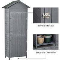 Outsunny Garden Shed Wooden Shed Timber Garden Storage Shed Outdoor w/ Felt Roof